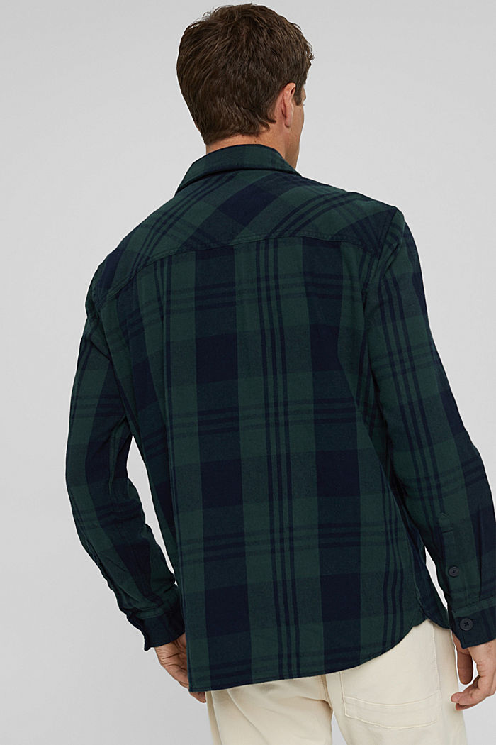 Check overshirt made of organic cotton, TEAL BLUE, detail image number 3
