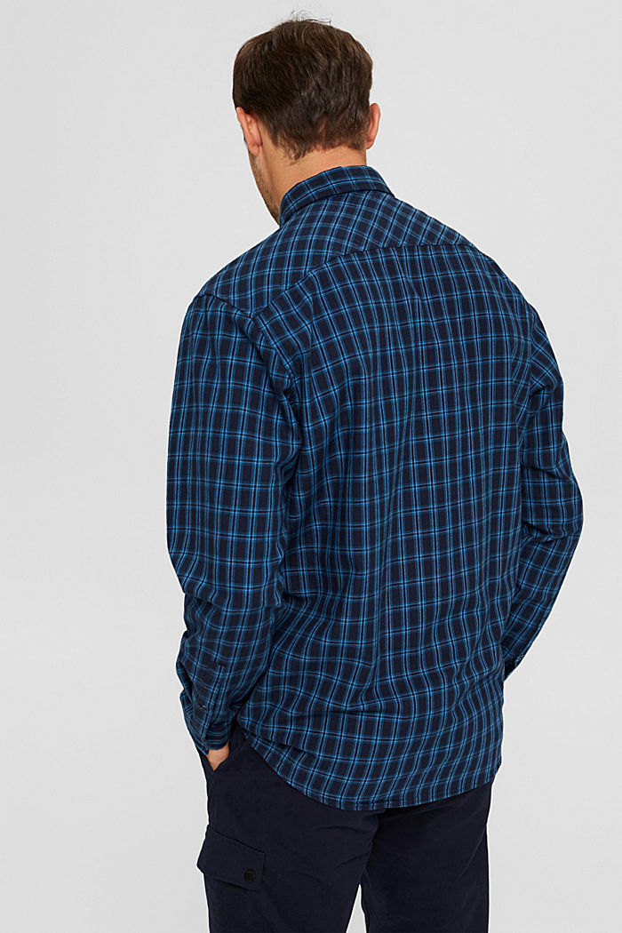 Check shirt made of 100% organic cotton, NAVY, detail image number 3