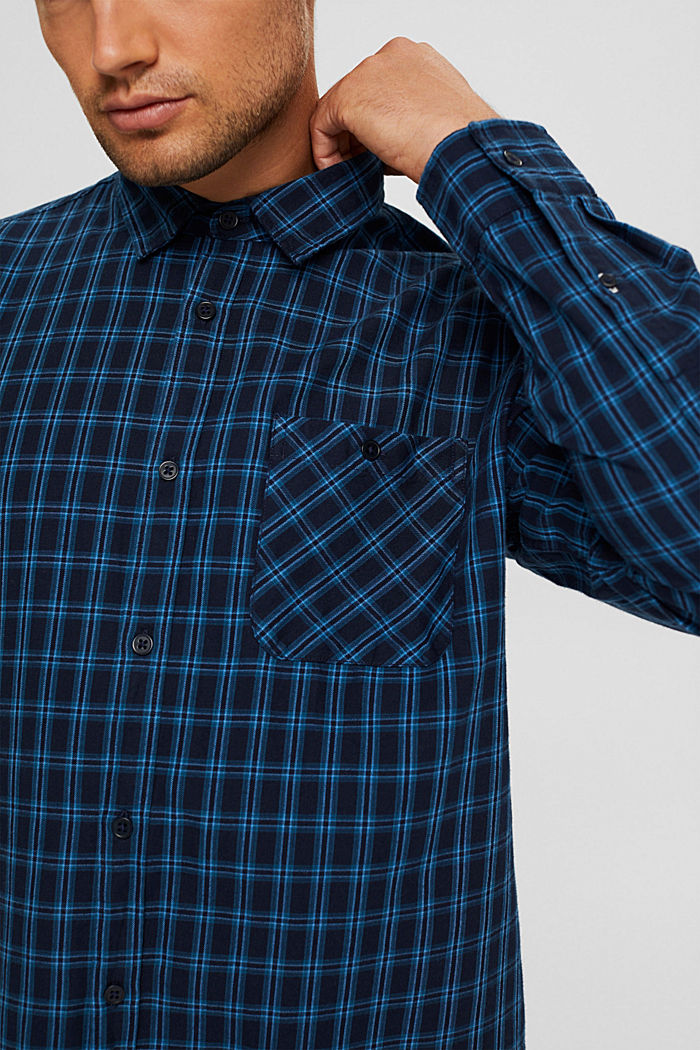 Check shirt made of 100% organic cotton, NAVY, detail image number 2