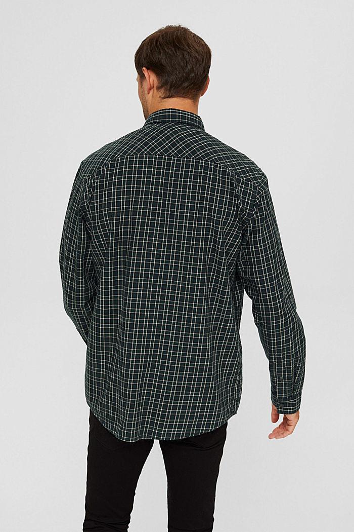 Geruit overhemd van 100% biologisch katoen, TEAL BLUE, detail image number 3