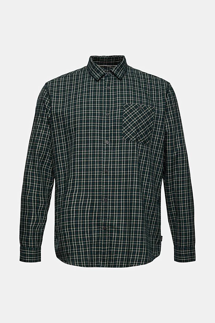 Rutig skjorta i 100 % ekologisk bomull
