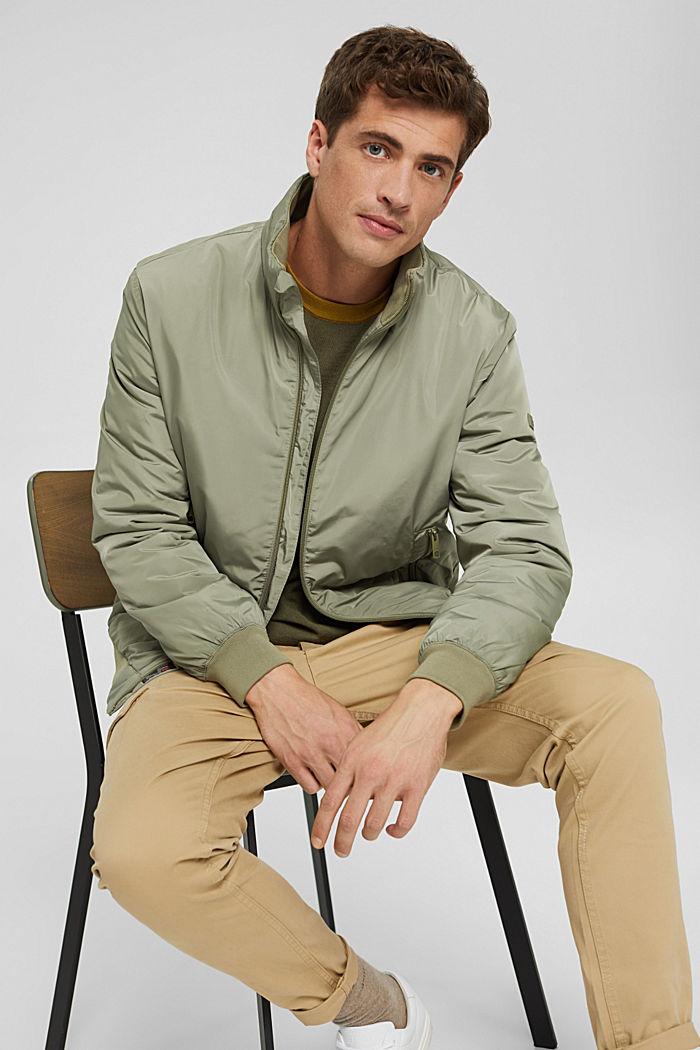 Recycled: bomber jacket with 3M™ Thinsulate, PALE KHAKI, detail image number 4