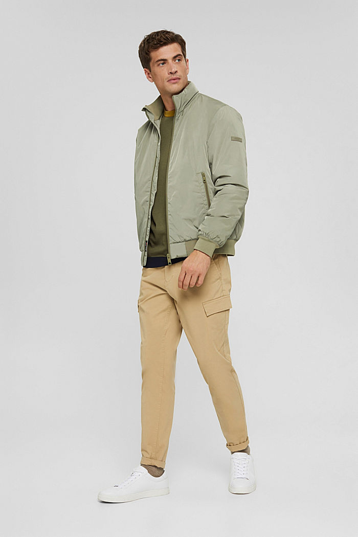 Recycled: bomber jacket with 3M™ Thinsulate, PALE KHAKI, detail image number 1