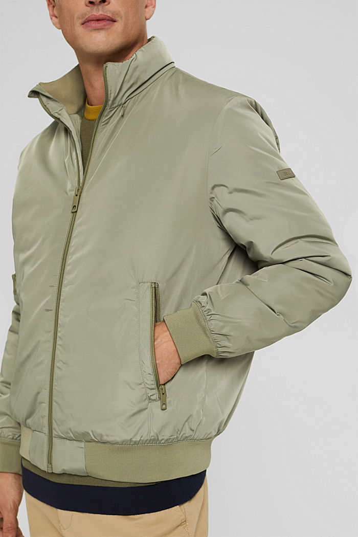 Recycled: bomber jacket with 3M™ Thinsulate, PALE KHAKI, detail image number 2