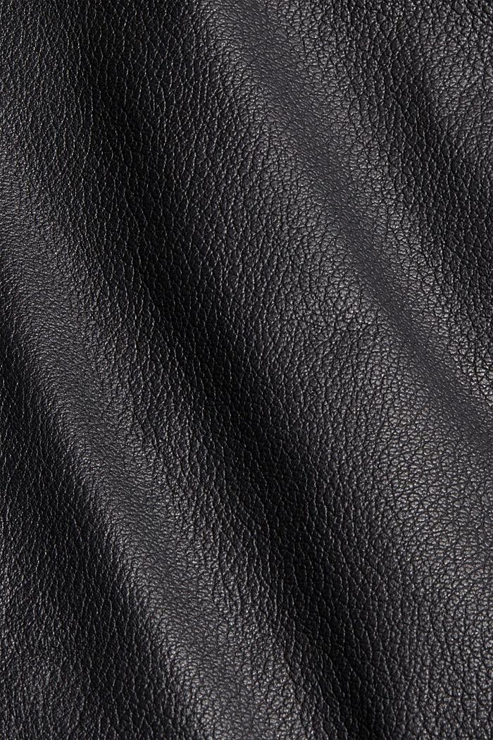 Bikerjacke aus 100% Leder, BLACK, detail image number 4