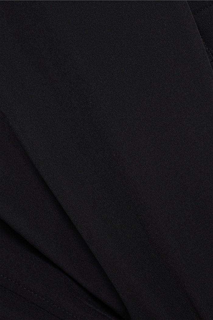 En matière recyclée: la veste style motard rembourrée, BLACK, detail image number 5