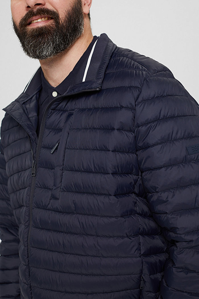 Recycled: Quilted jacket with 3M™ Thinsulate™, DARK BLUE, detail image number 2