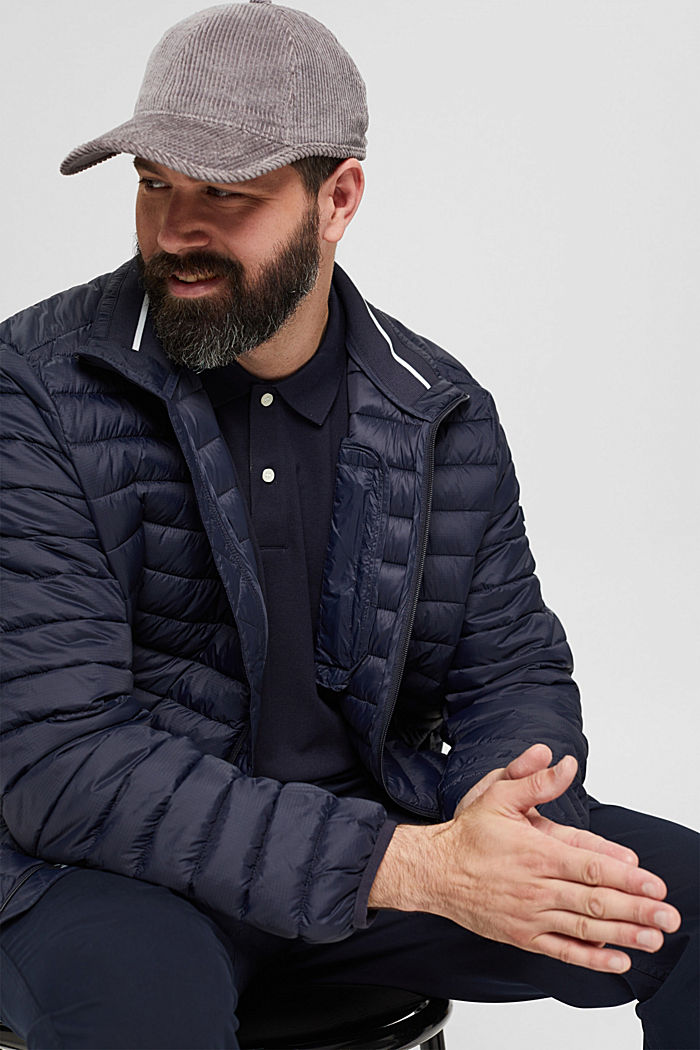 Recycled: Quilted jacket with 3M™ Thinsulate™, DARK BLUE, detail image number 5