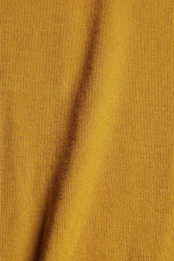 With responsible wool: crewneck jumper, YELLOW, detail image number 4