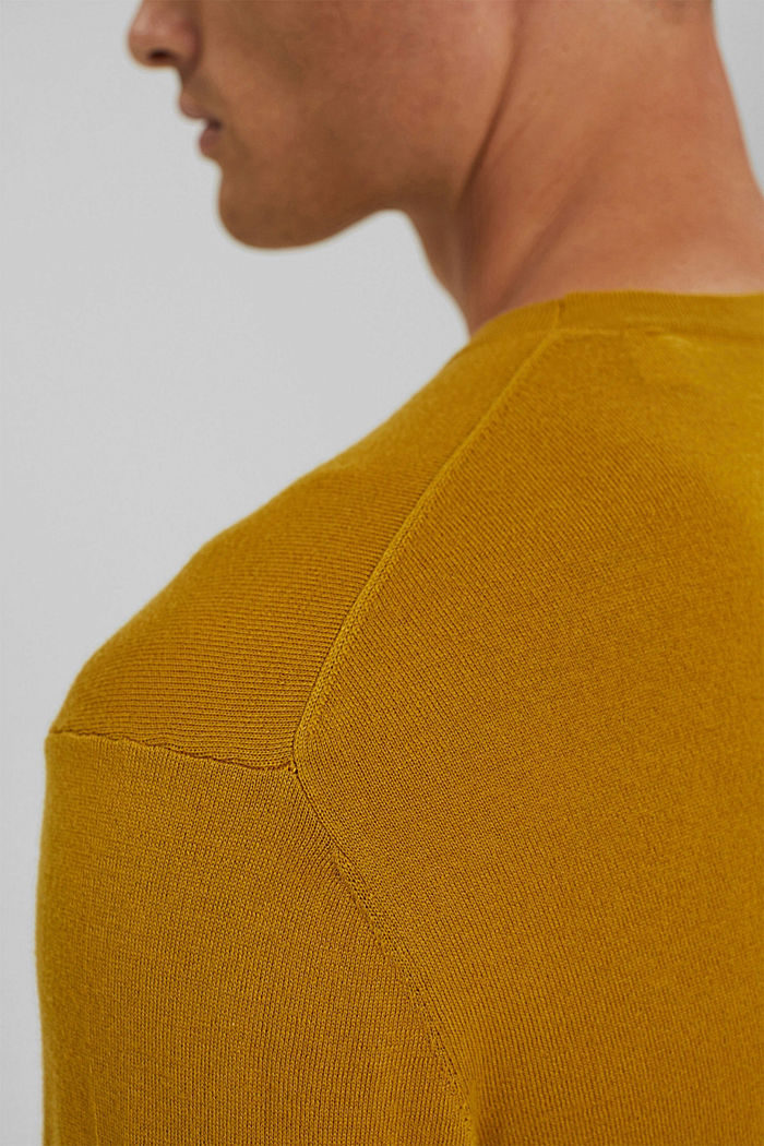 With responsible wool: crewneck jumper, YELLOW, detail image number 5