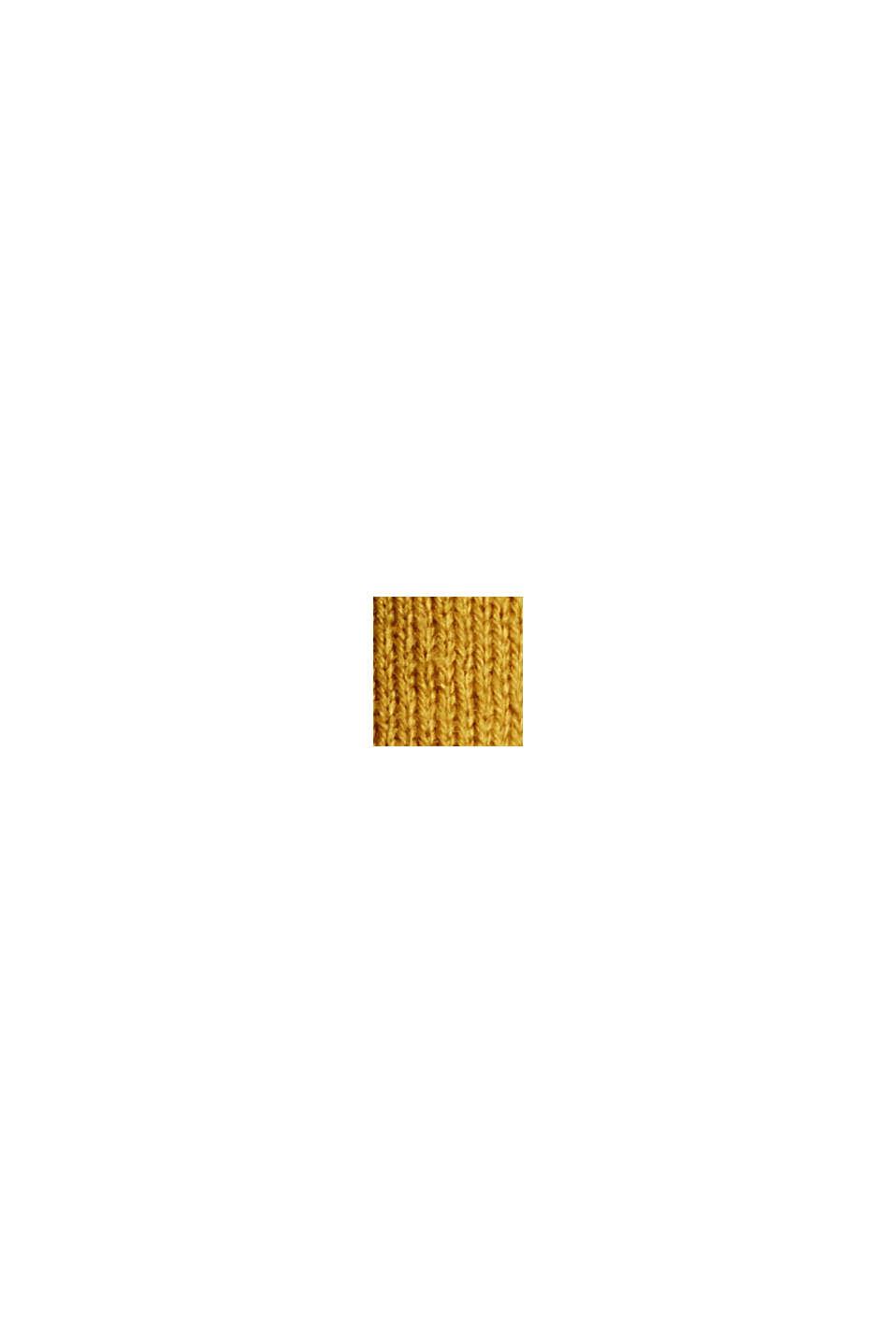 Met Responsible Wool: trui met ronde hals, YELLOW, swatch