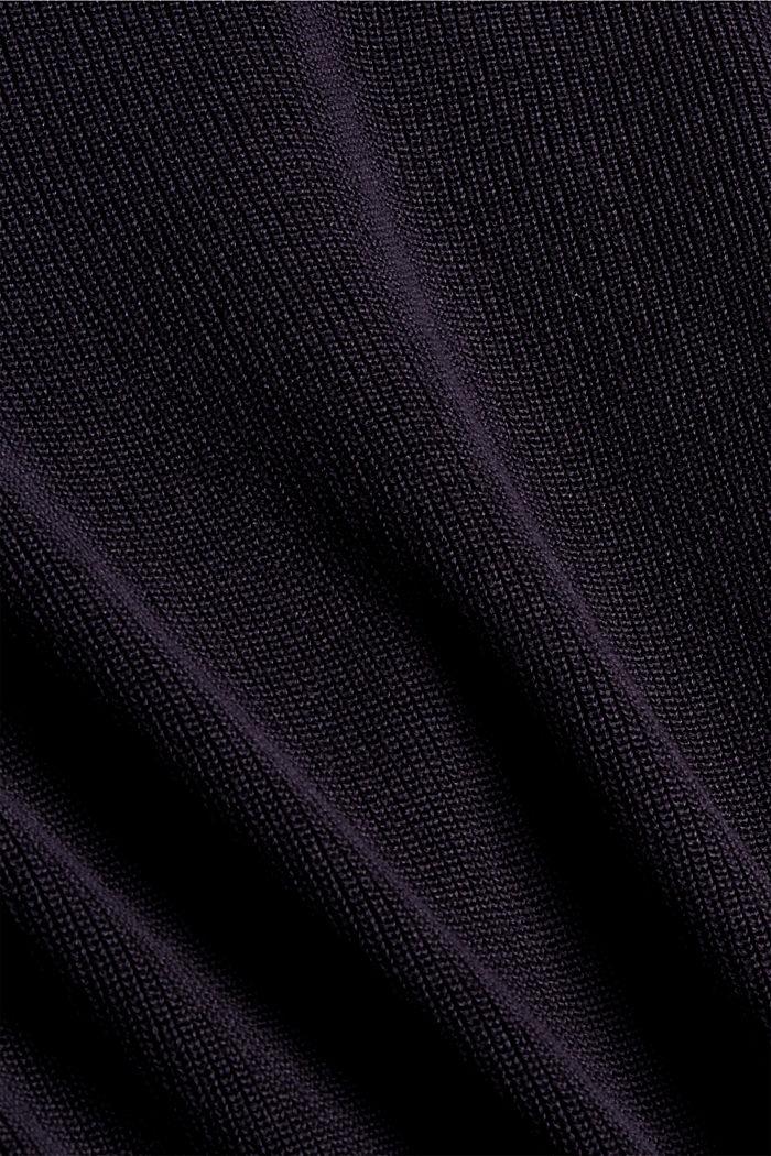 Zweifarbiger Pullover aus Organic Cotton, NAVY, detail image number 4