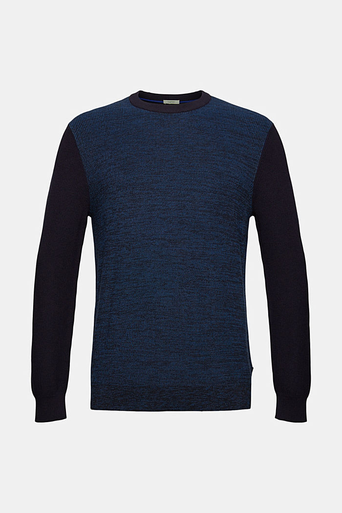 Pullover bicolore in cotone biologico