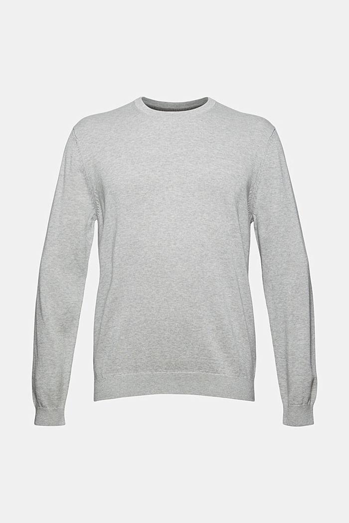Rundhals-Pullover aus Pima-Baumwolle, LIGHT GREY, detail image number 5