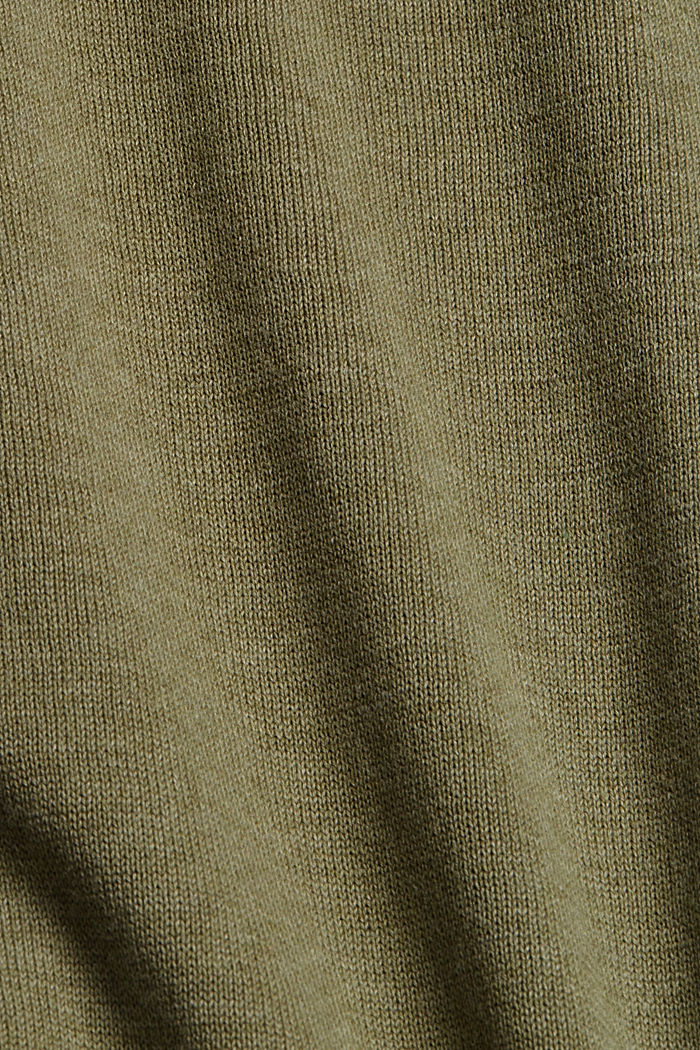 Crewneck jumper in pima cotton, PALE KHAKI, detail image number 4