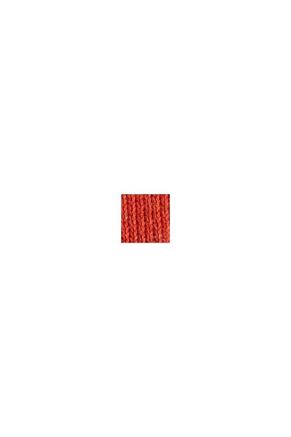 Pullover m. rund hals, af pima-bomuld, ORANGE, swatch