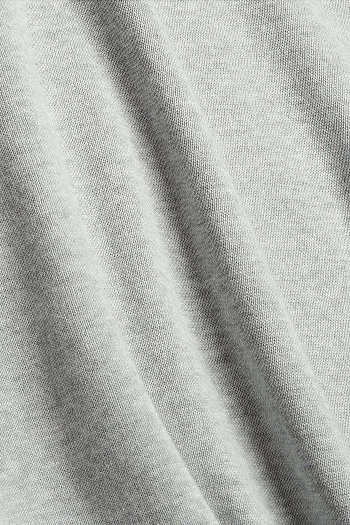 V-neck jumper made of 100% pima cotton, LIGHT GREY, detail image number 4