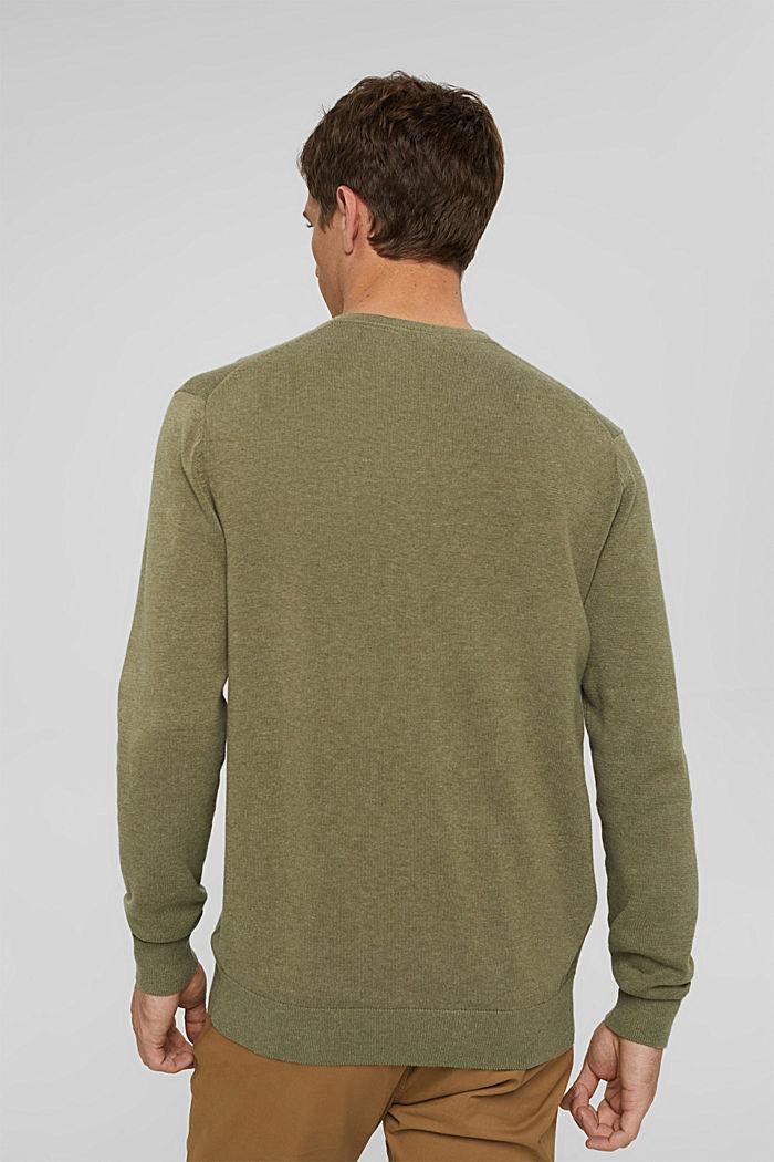 V- Neck Pullover aus 100% Pima Cotton, PALE KHAKI, detail image number 3