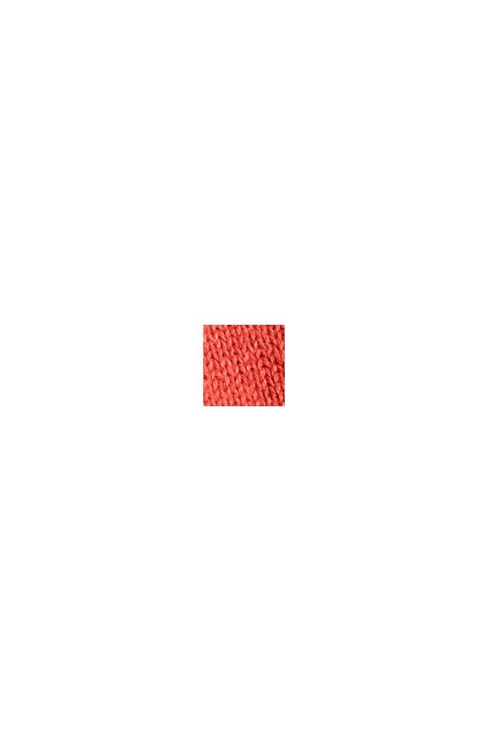 Pullover af 100% pimabomuld med V-udskæring, ORANGE, swatch