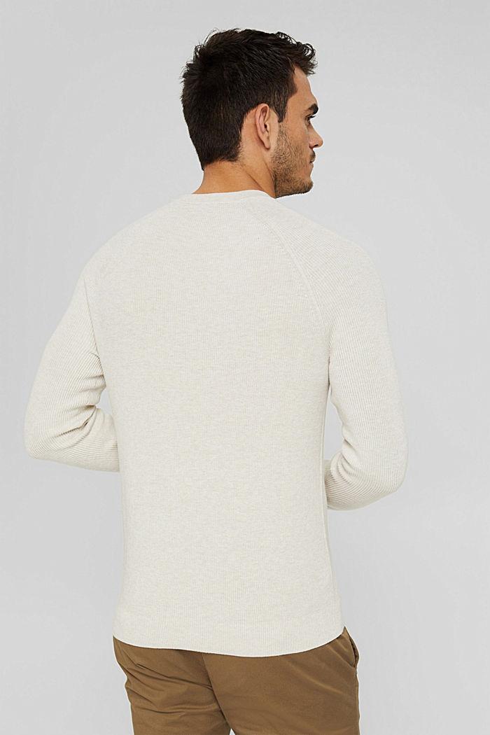 Rippstrick-Pullover aus 100% Bio-Baumwolle, OFF WHITE, detail image number 3