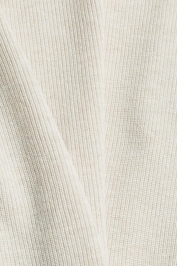 Rippstrick-Pullover aus 100% Bio-Baumwolle, OFF WHITE, detail image number 4