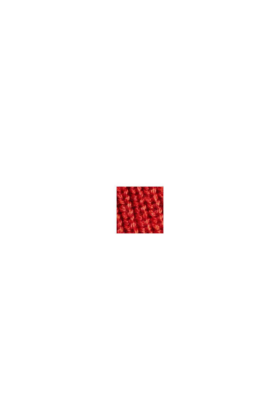 Pull-over en maille côtelée, 100% coton biologique, ORANGE, swatch
