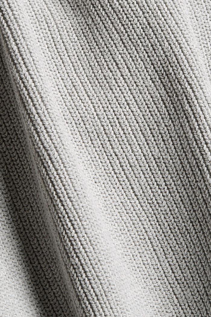 Melierter Cardigan aus Bio-Baumwoll-Mix, LIGHT GREY, detail image number 4