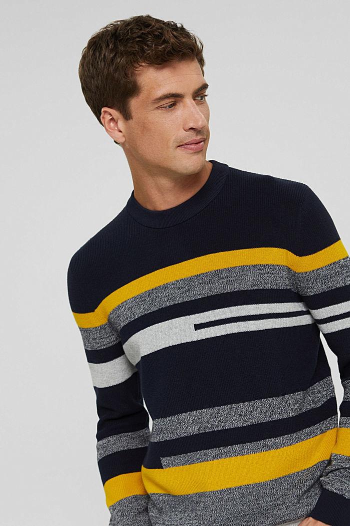 Gestreifter Pullover aus 100% Bio-Baumwolle