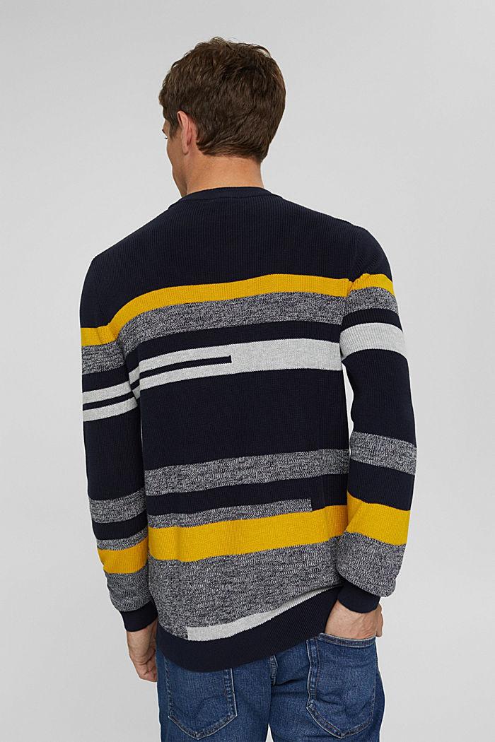 Gestreifter Pullover aus 100% Bio-Baumwolle, NAVY, detail image number 3