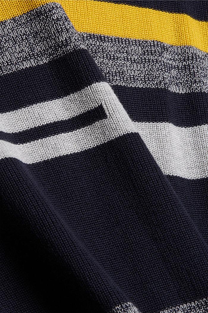 Gestreifter Pullover aus 100% Bio-Baumwolle, NAVY, detail image number 4