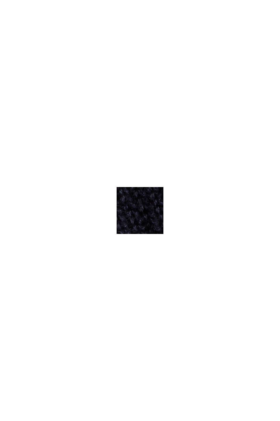 Gestreifter Pullover aus 100% Bio-Baumwolle, NAVY, swatch