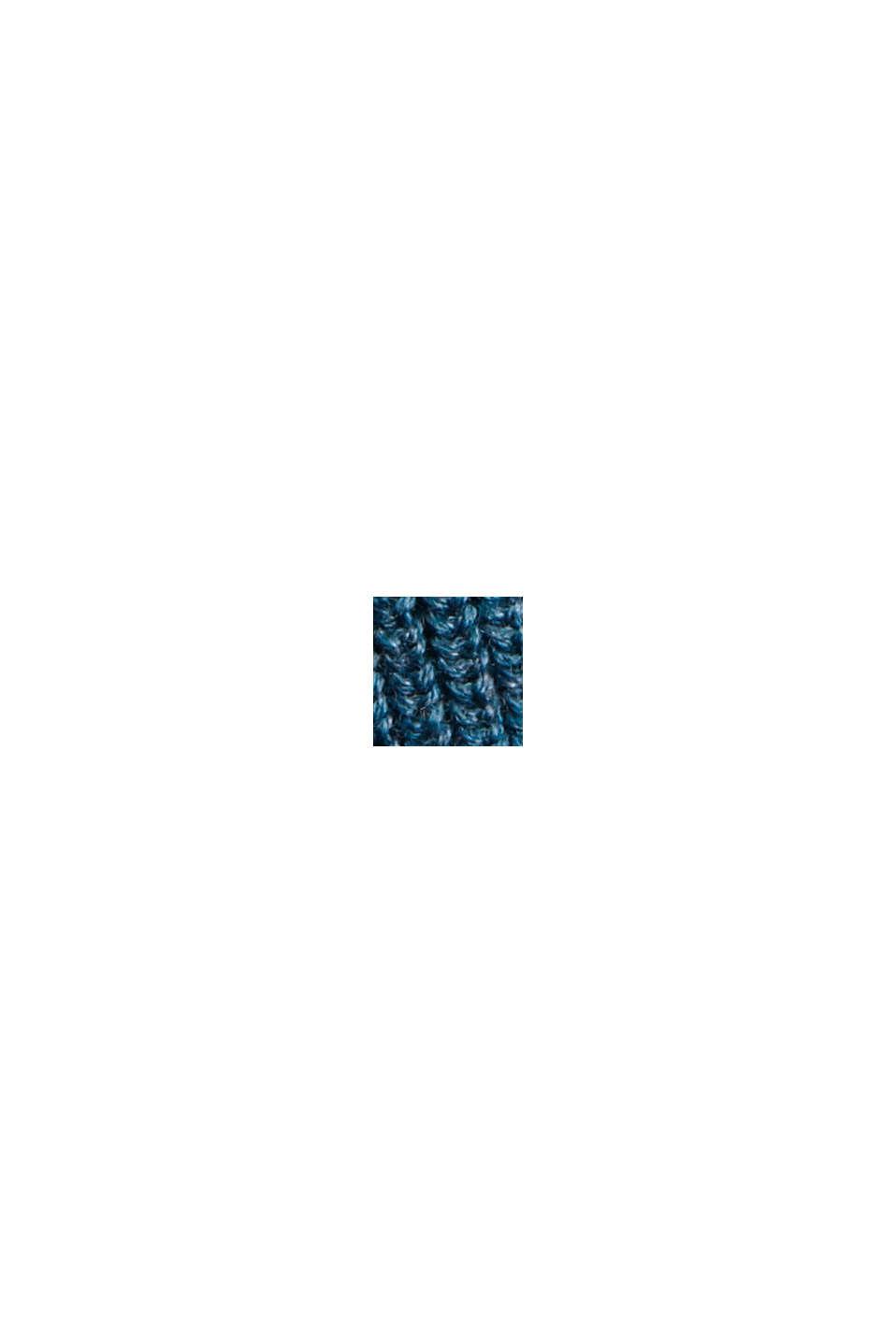 Gestreepte trui van 100% biologisch katoen, NAVY BLUE, swatch