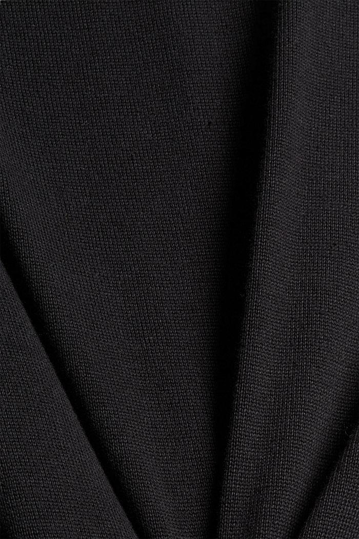 Feinstrick-Pullover aus 100% Pima Baumwolle, BLACK, detail image number 1