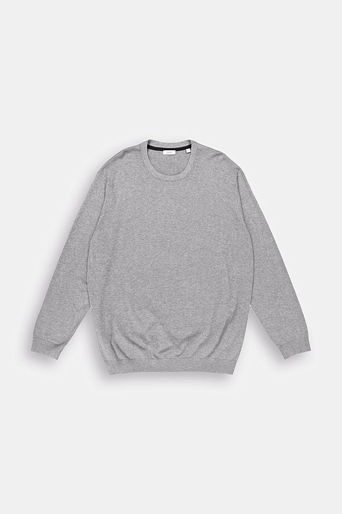 Feinstrick-Pullover aus 100% Pima Baumwolle, MEDIUM GREY, detail image number 0