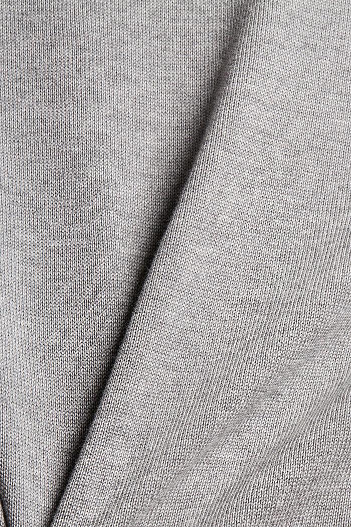 Feinstrick-Pullover aus 100% Pima Baumwolle, MEDIUM GREY, detail image number 1