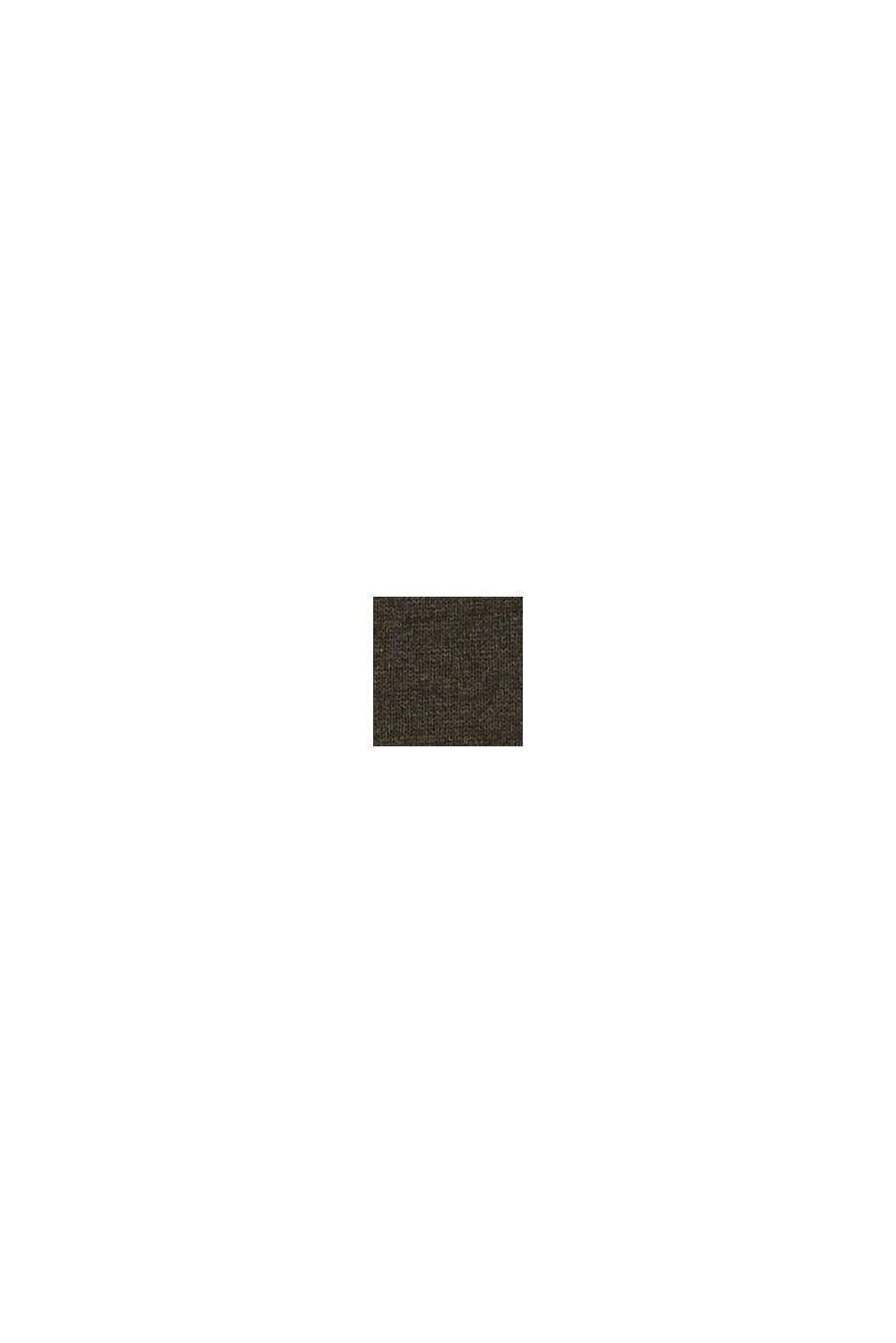 Fijngebreide trui van 100% pima katoen, DARK KHAKI, swatch