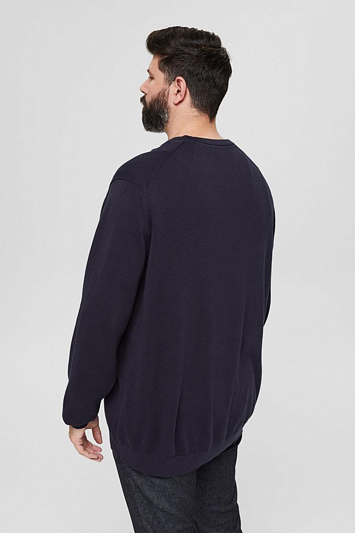 Feinstrick-Pullover aus 100% Pima Baumwolle, NAVY, detail image number 3