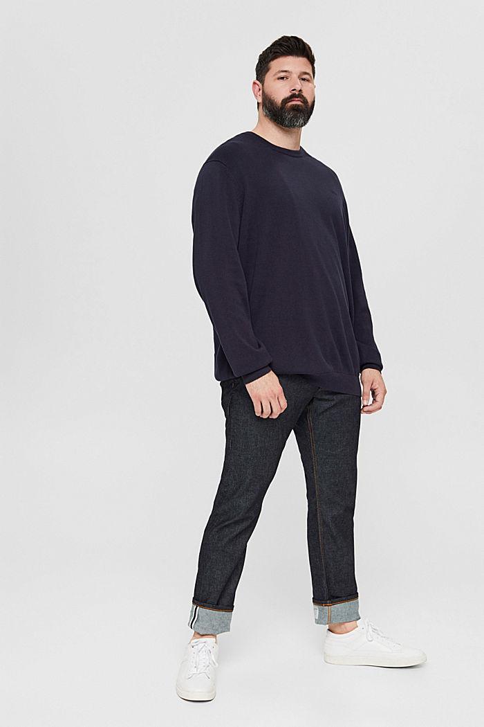 Feinstrick-Pullover aus 100% Pima Baumwolle, NAVY, detail image number 6