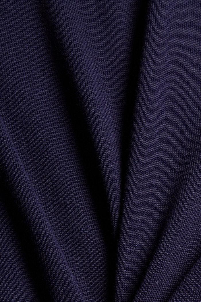 Feinstrick-Pullover aus 100% Pima Baumwolle, NAVY, detail image number 4