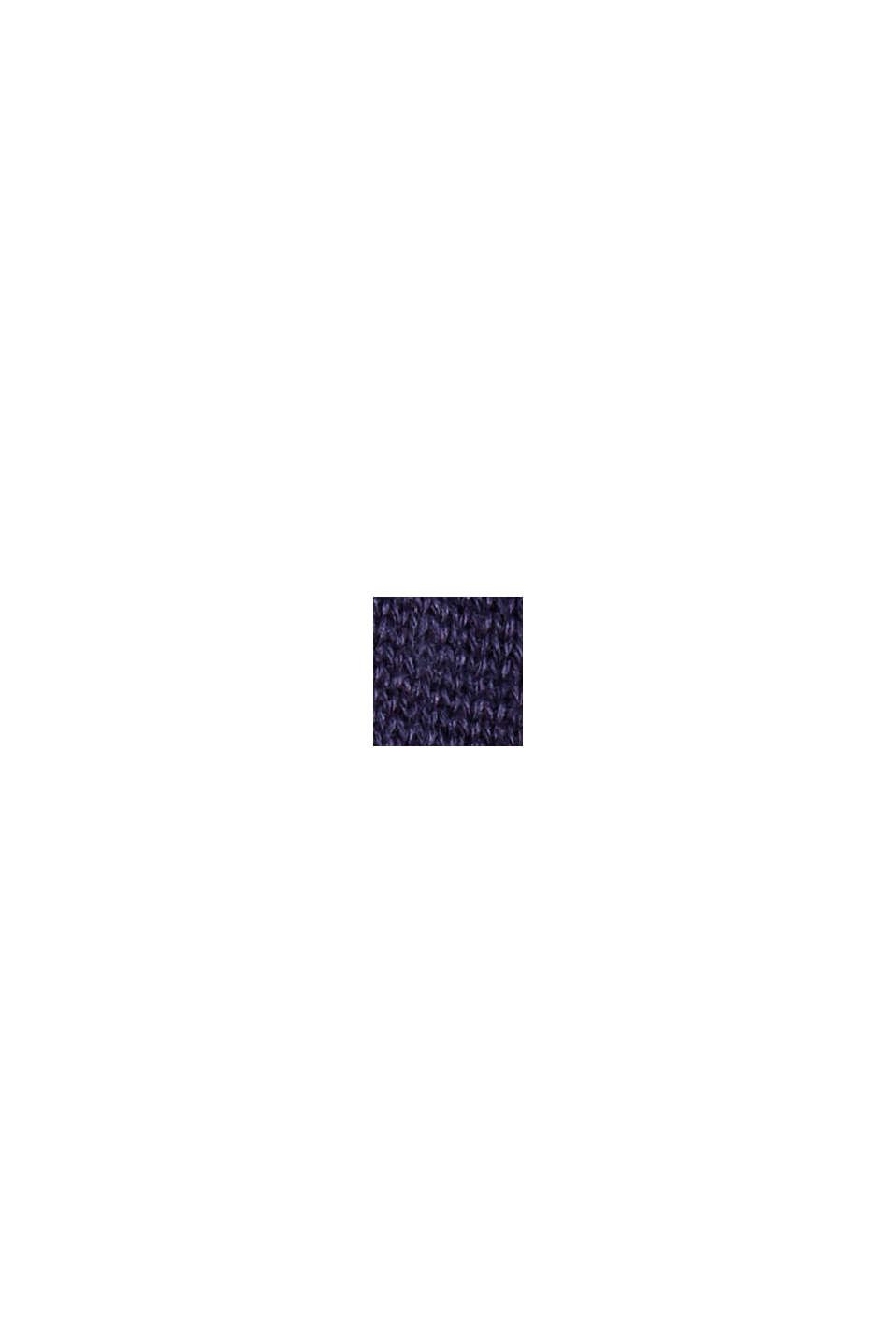 Fijngebreide trui van 100% pima katoen, NAVY, swatch