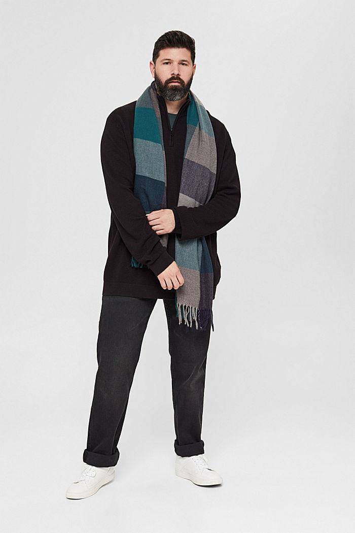 Troyer mit Waffel-Struktur, 100% Pima Baumwolle, BLACK, detail image number 6
