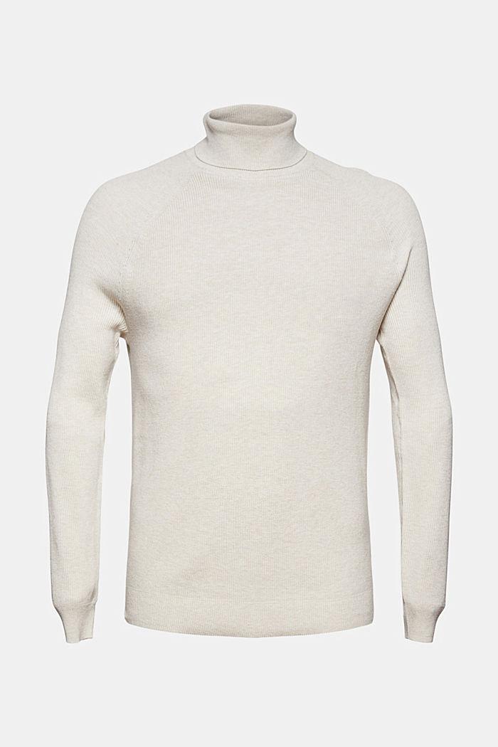 Pullover dolcevita in 100% cotone biologico