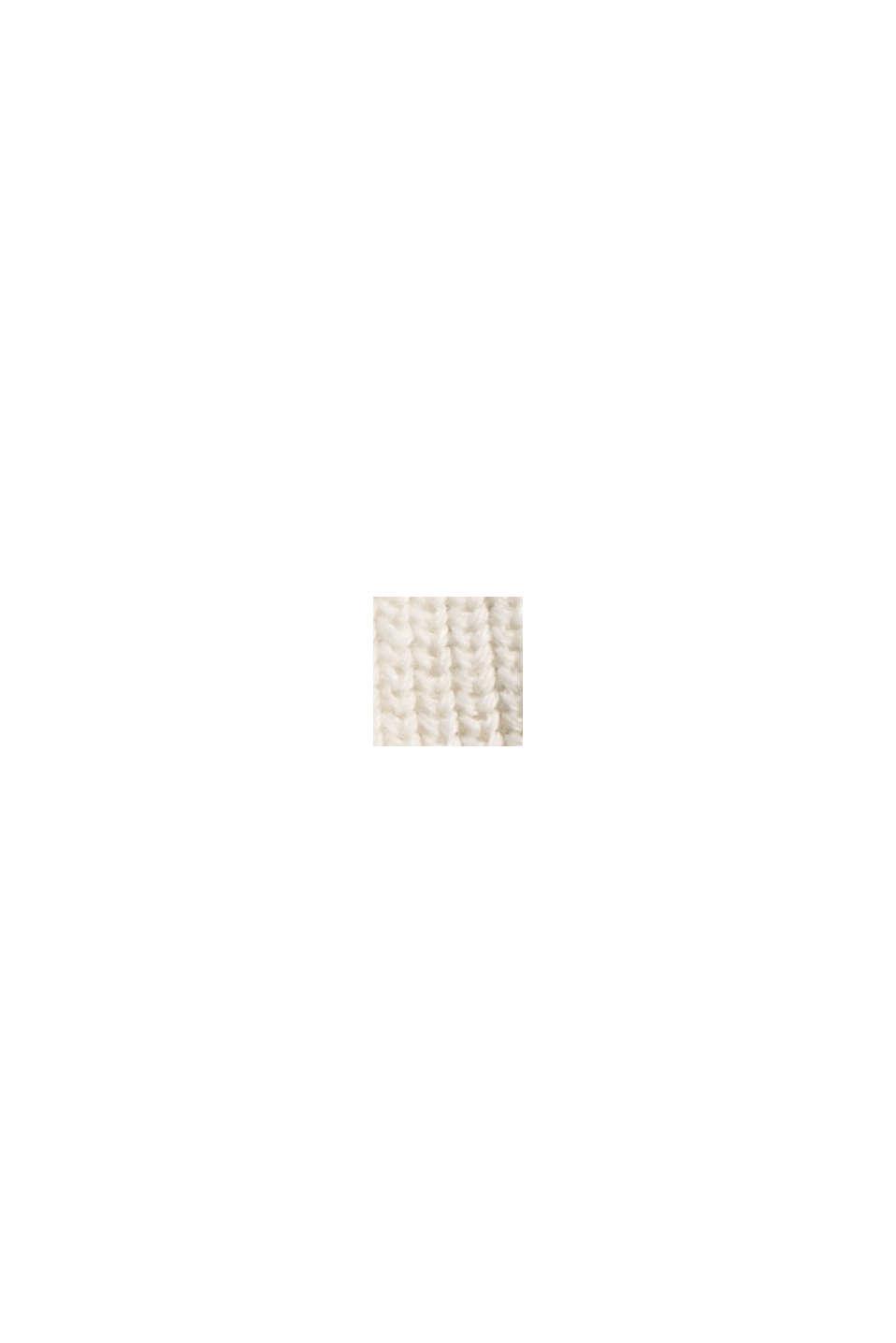 Pullover dolcevita in 100% cotone biologico, OFF WHITE, swatch