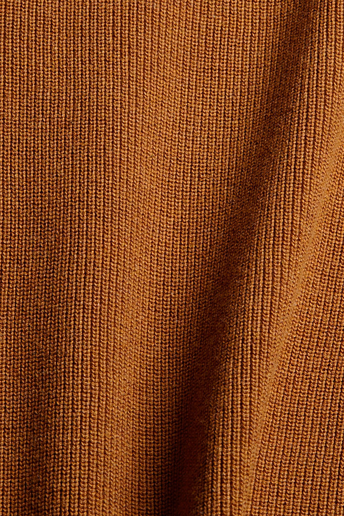 Pull-over à col roulé 100% coton biologique, CAMEL, detail image number 4