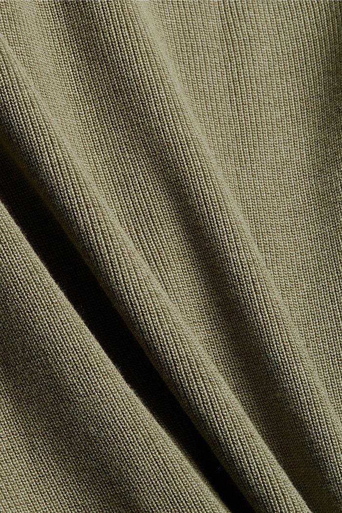 Rollkragenpullover aus 100% Organic Cotton, PALE KHAKI, detail image number 4