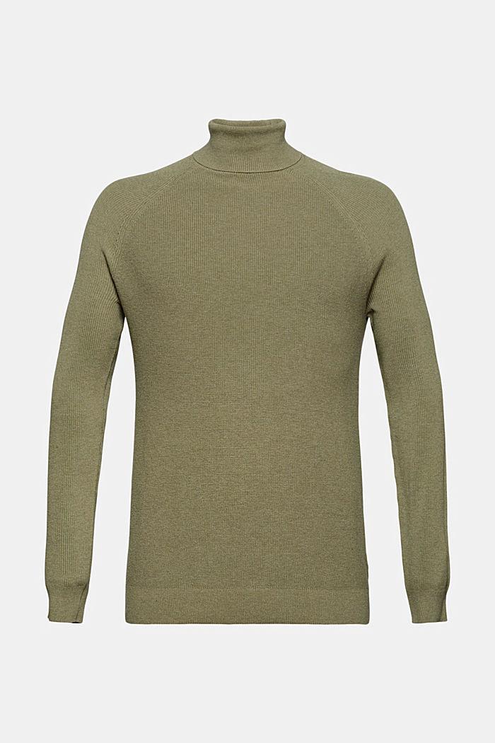 Pull-over à col roulé 100% coton biologique