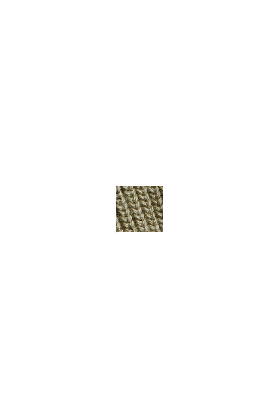 Pullover dolcevita in 100% cotone biologico, PALE KHAKI, swatch