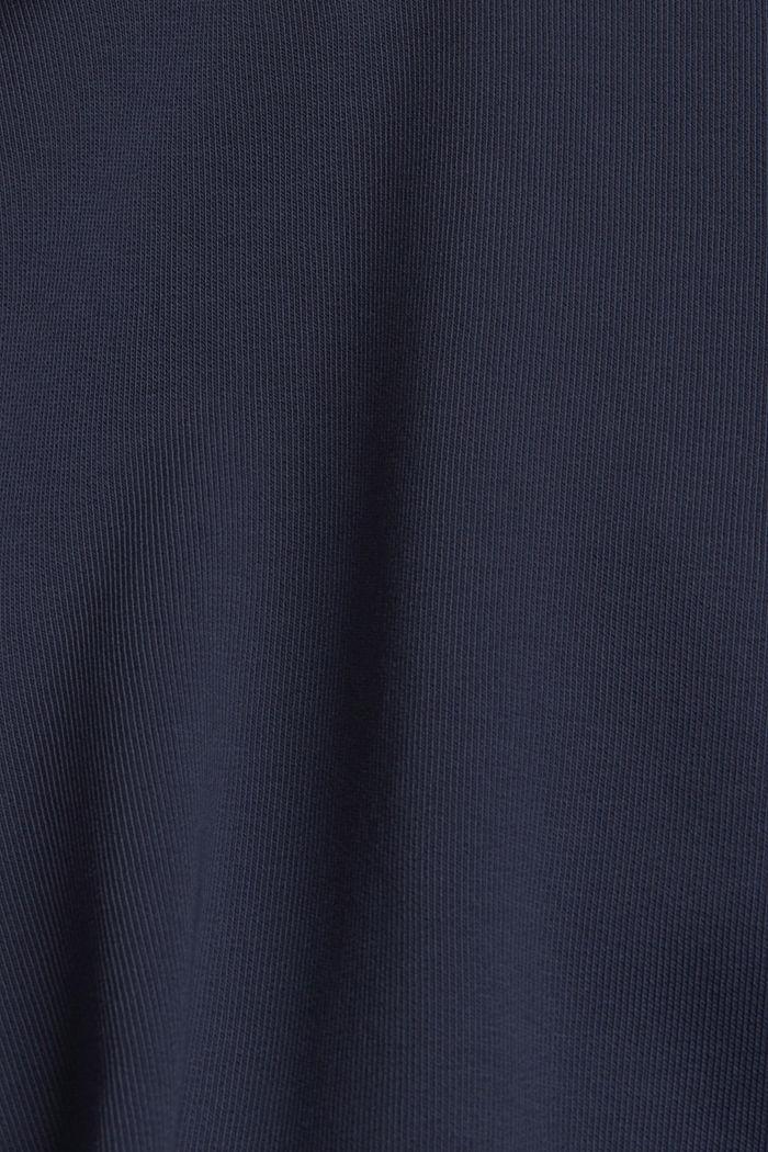 Hoodie met opstaande kraag, mix met biologisch katoen, NAVY, detail image number 4