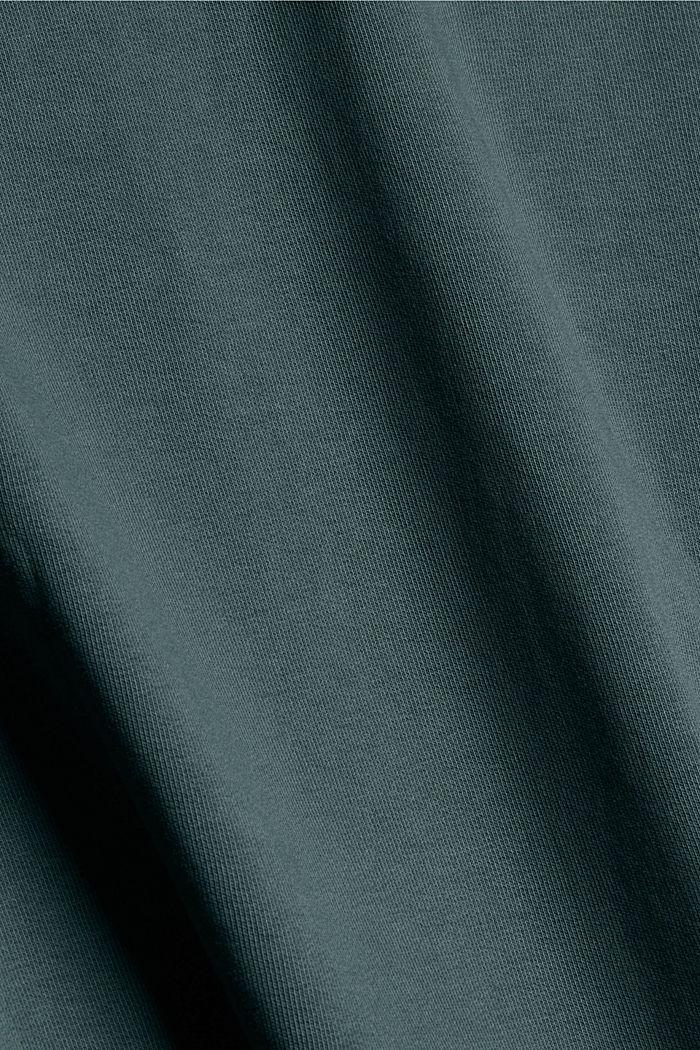 Hoodie mit Stehkragen aus Bio-Baumwoll-Mix, TEAL BLUE, detail image number 4