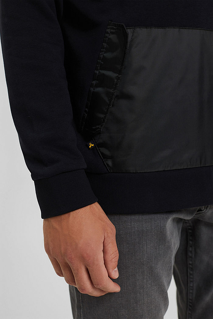#ReimagineFlexibility: sweat à capuche en mélange de matières, BLACK, detail image number 6